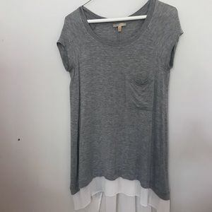 Anthropologie Gray Tunic by Bordeaux